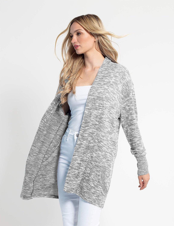 chicka-d Womens Cozy Fleece Quarter Zip Pullover Medium Heather Grey