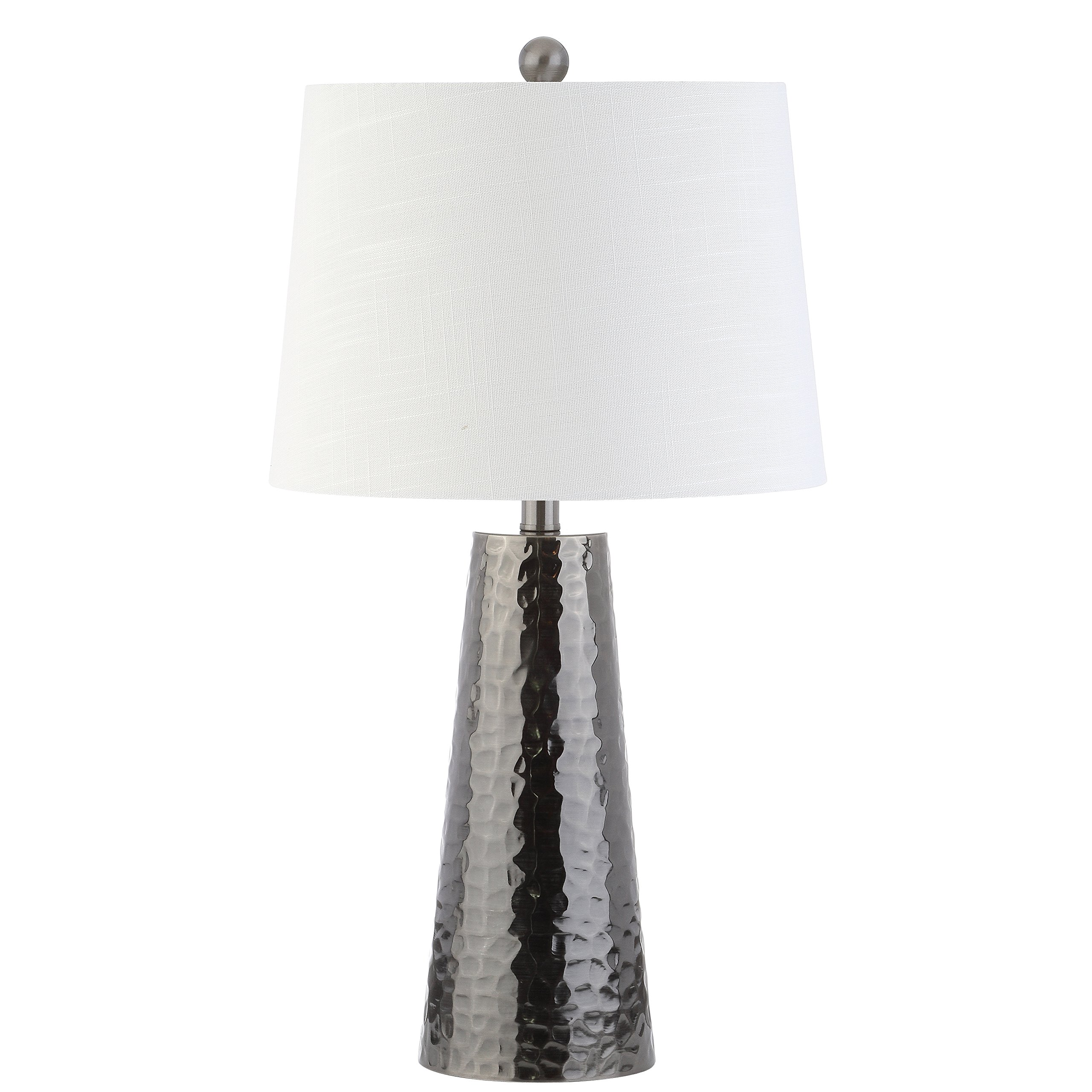 JONATHAN Y JYL3024A Table Lamp, 14'' x 26'' x 14'', Black Nickel with White Shade