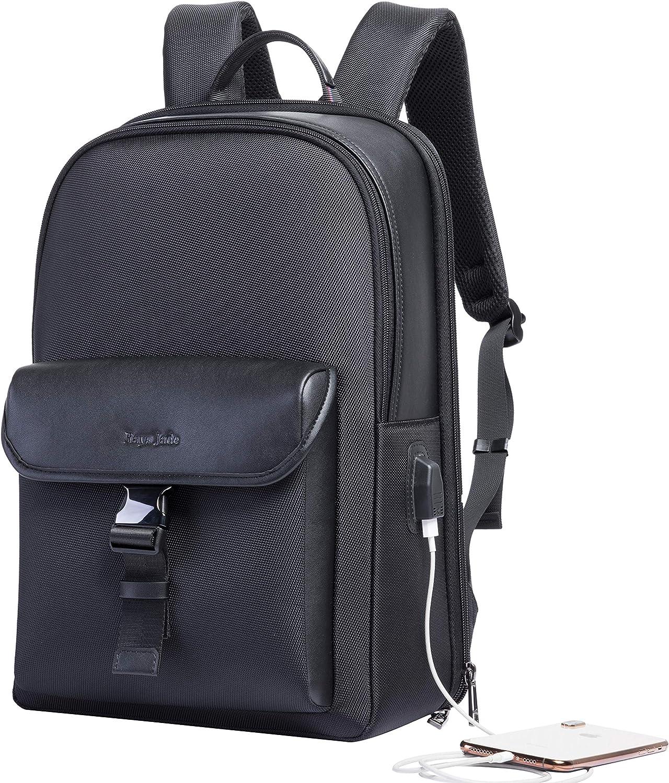 Men Women Business Laptop Backpack Slim USB Charging Waterproof Anti-Theft Casual Travel School Bag