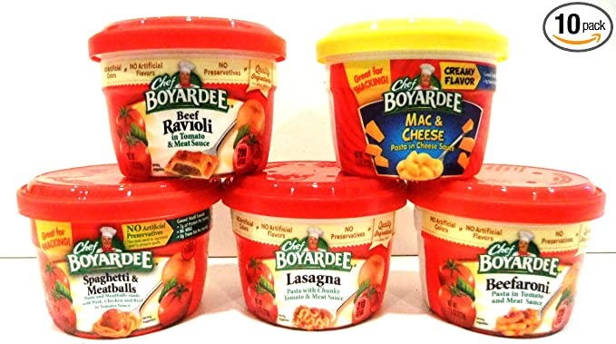 Chef Boyardee - Cuencos microondas, variedad, 10 unidades ...