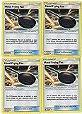 POKEMON - TRAINER SET - METAL FRYING PAN 112/131 - SUN MOON FORBIDDEN LIGHT - 4 CARD LOT