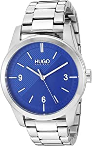 HUGO by Hugo Boss Men's Quartz Watch with Stainless Steel Strap, Silver, 22 (Model: 1530015)