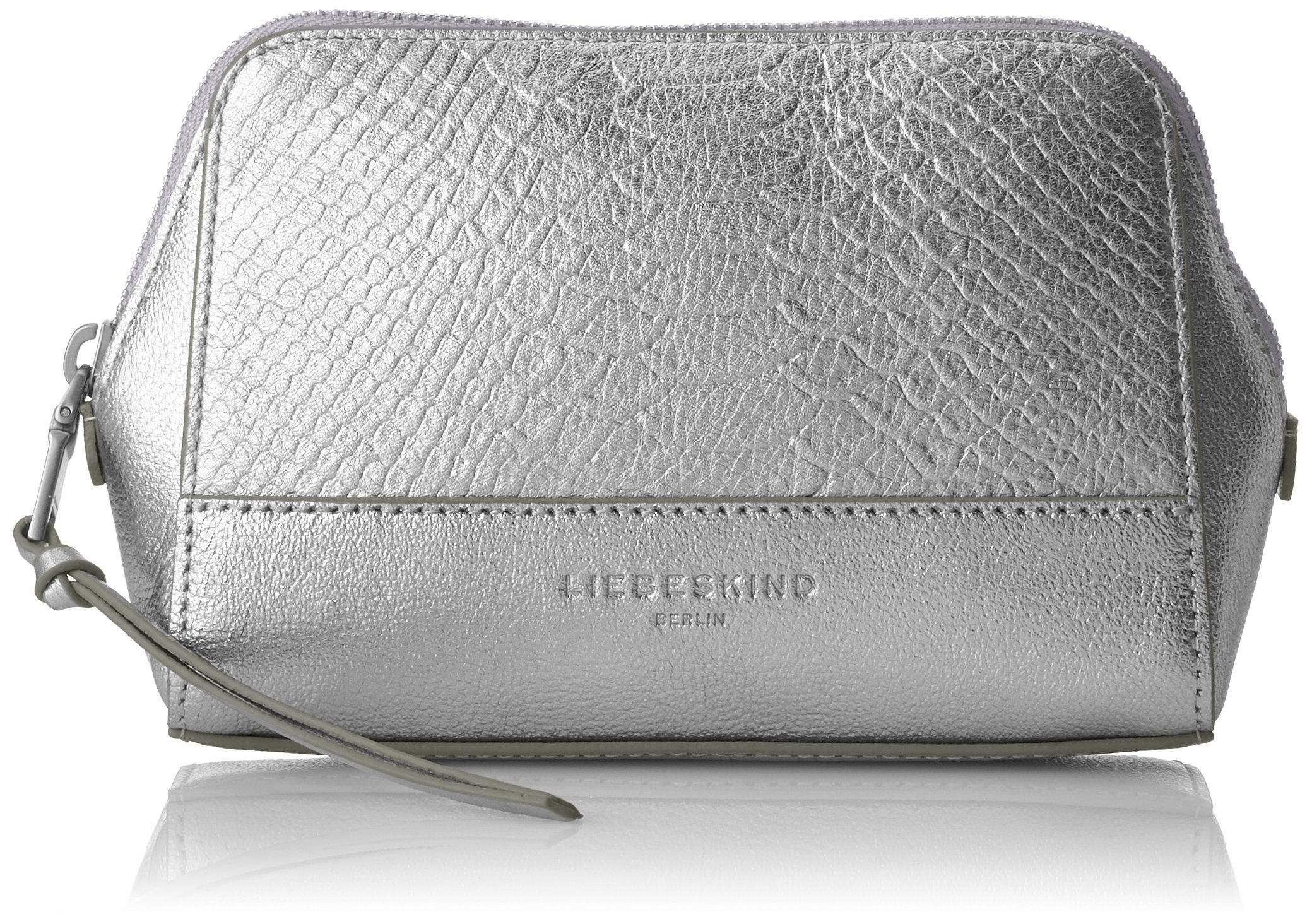 Liebeskind Berlin Women's Rhinebeck Metallic Leather Cosmetic Case, Silver by Liebeskind Berlin (Image #1)