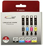 Amazon Price History for:Canon CLI-251 Creative Park Premium Ink Cartridges Black, Cyan, Magenta, Yellow - 4 color pack
