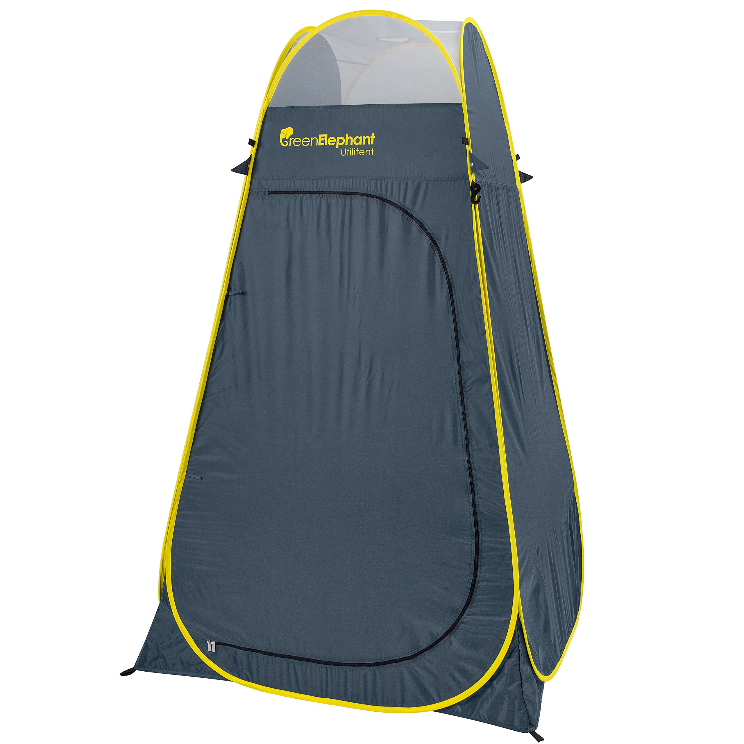 GREEN ELEPHANT Pop Up Utilitent – Privacy Portable Camping, Biking, Toilet, Shower, Beach Changing Room Extra Tall, Spacious Tent Shelter.