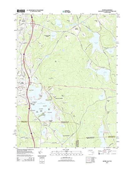 Amazon.com: Topographic Map Poster - Oxford, MA-CT-RI TNM GEOPDF 7.5 ...