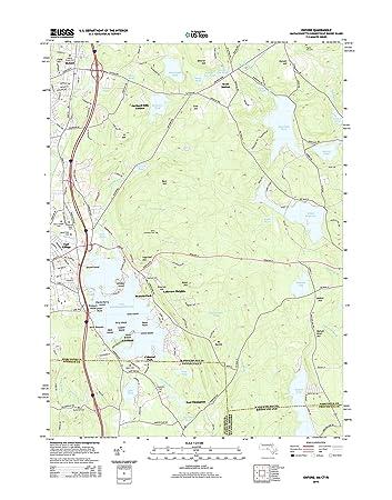 Amazon.com: Topographic Map Poster - Oxford, MA-CT-RI TNM GEOPDF 7.5 ...