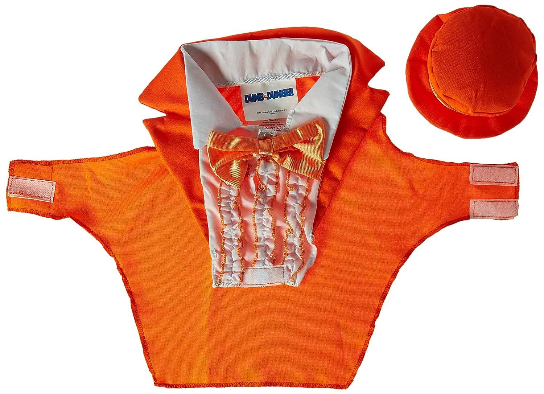 Rasta Imposta Dumb and Dumber Lloyd orange Tuxedo Dog Costume, X-Large