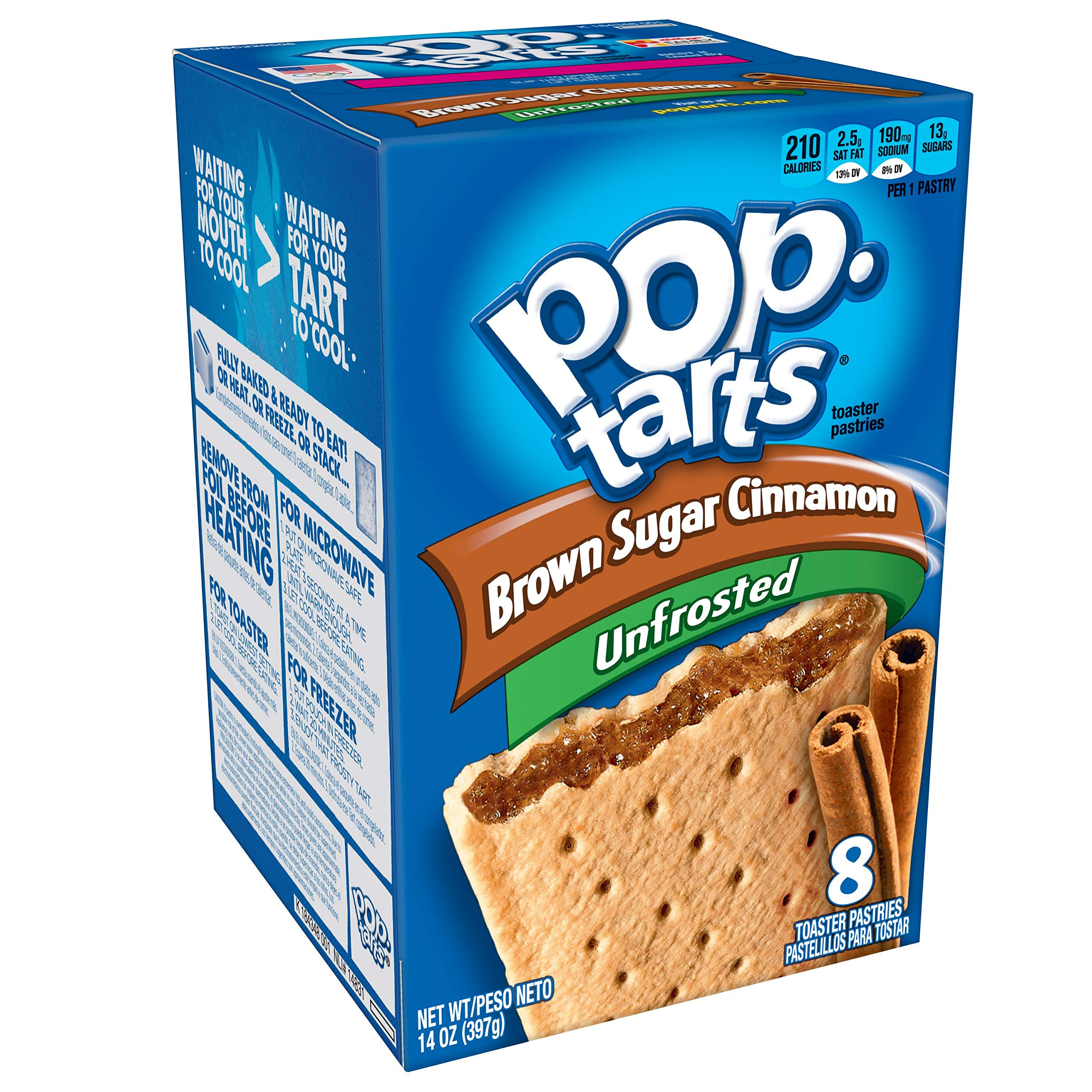 (Discontinued by Manufacturer)Pop-Tarts Breakfast Toaster Pastries, Unfrosted Brown Sugar Cinnamon Flavored