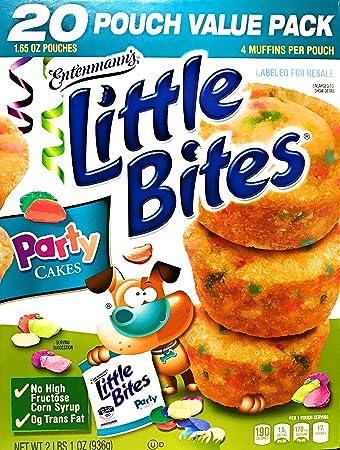 Entenmanns Little Bites Party Cakes 20 Pouches 80 Muffins 4