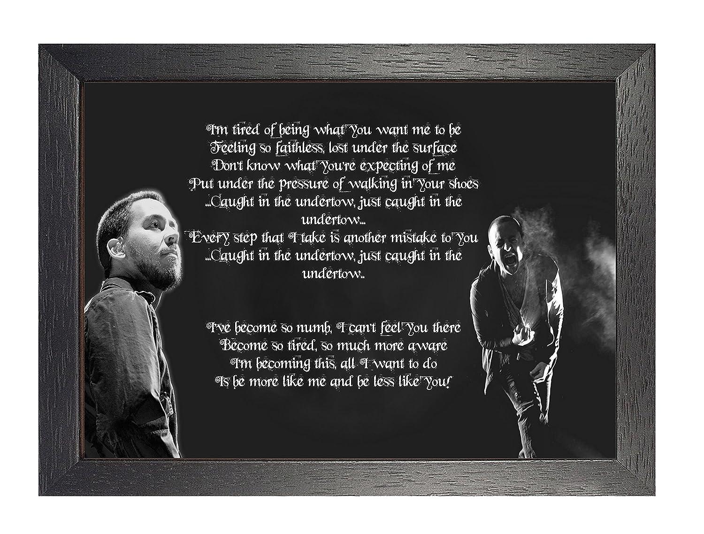 Amazon.de: Numb Linkin Park Chester Bennington, A4 Poster gerahmt ...