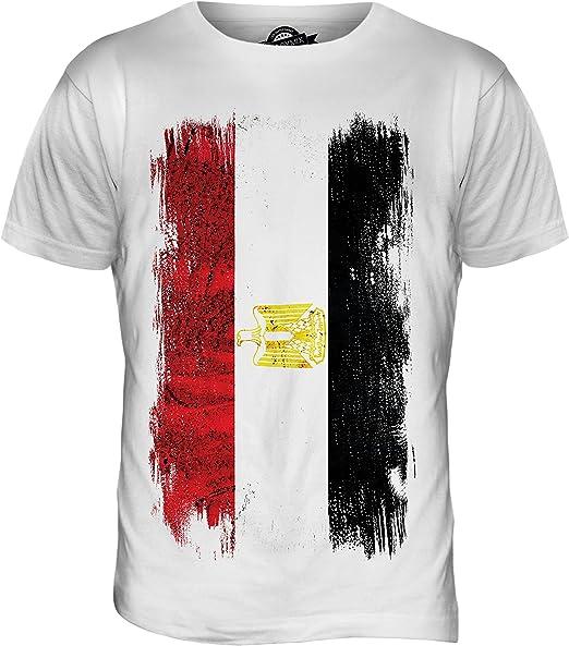 Egipto Grunge Bandera - camiseta hombre Camiseta Top: Amazon.es ...