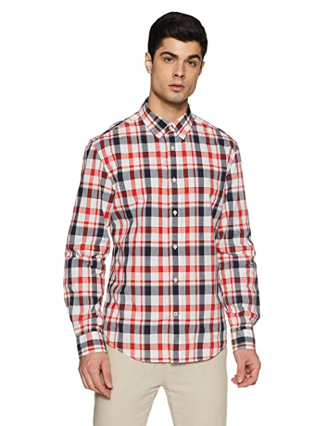 9025eed2 TOMMY HILFIGER Men's Casual Shirt (8907504828456_A7BMW115_S_Sleet ...