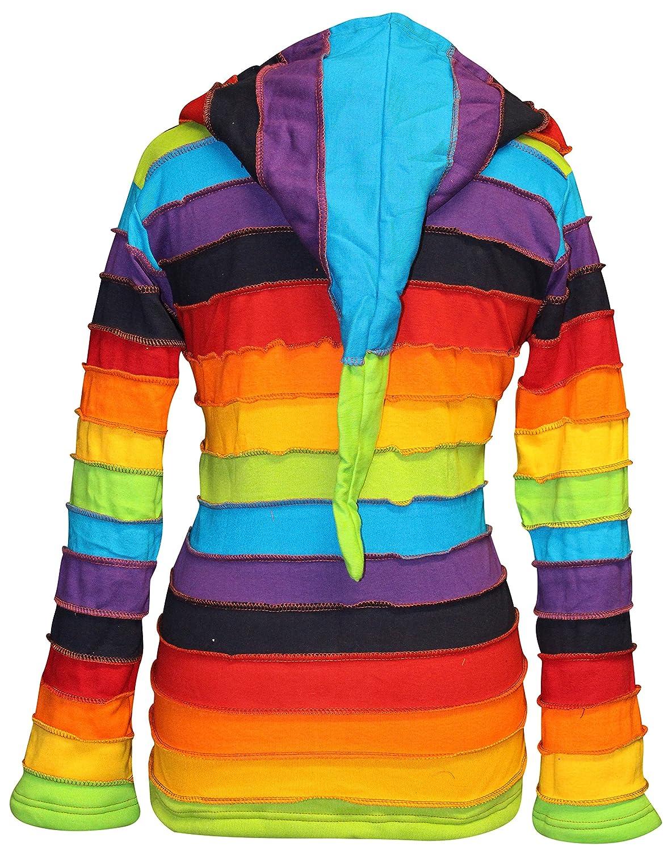 Shopoholic Fashion Women Fleece Lined Rainbow Jacket