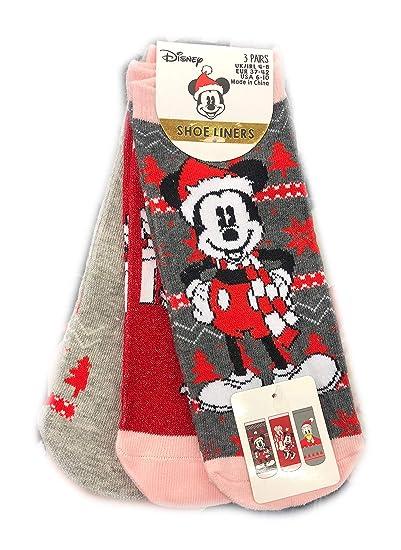 3 calcetines de mujer Disney Minnie Mickey Mouse Team talla UK 4-8, EUR37-42 Pattern 2 37/42 ES: Amazon.es: Ropa y accesorios