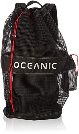 bf31b7075765 Oceanic Mesh Backpack For Scuba and Snorkeling Equipment (Black/Red ...