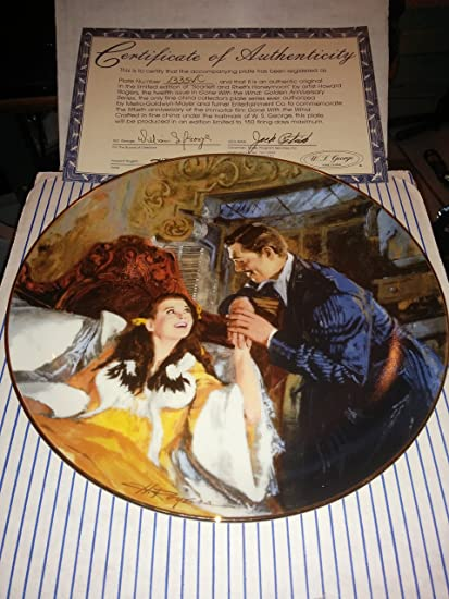 Amazon.com : Collector Plate - Gone with the Wind - Golden Anniversary Series Plate #12 - Scarlett & Rhetts Honeymoon : Other Products : Everything Else