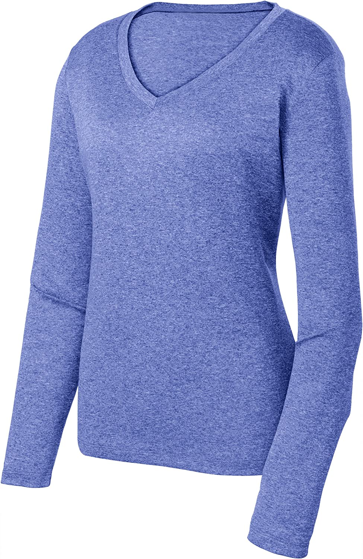 Animal Den Ladies Long Sleeve Moisture Wicking Athletic Shirts Sizes XS-4XL