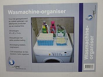 Keuken Opbergen Organizers : Waschmaschinen organizer metall weiss korb verchromt mit saugnäpfe