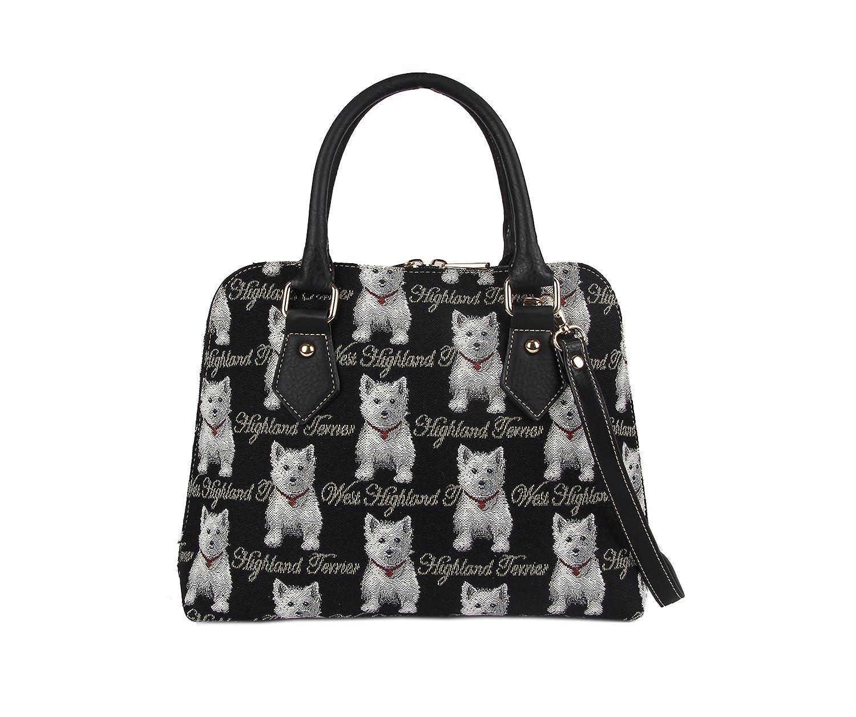 Signareレディースファッションキャンバスタペストリーコンバーチブルショルダーバッグ (シドニー西部出身者犬) B00WN2UW88 シドニー西部出身者犬 シドニー西部出身者犬