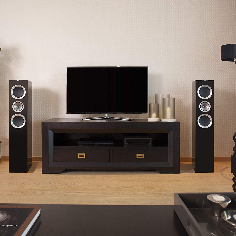 Amazon com: KEF R500 Floorstanding Loudspeaker - High Gloss Piano