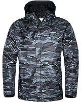 Columbia Men's Timber Pointe Printed Camo Omni Tech Rain Hooded Waterproof Jacket