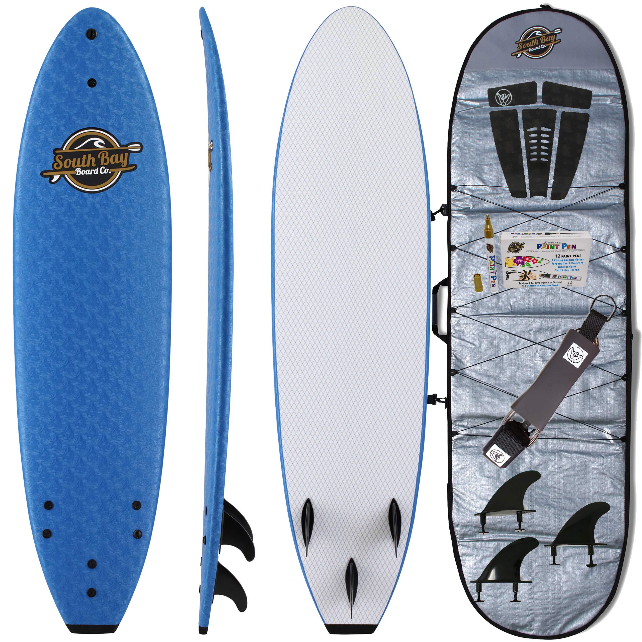 Soft Top Surfboard + Bag Package