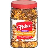 Fisher Snack Honey Roasted Mixed Nuts with Peanuts, 24 oz, Cashews, Almonds, Filberts, Pecans