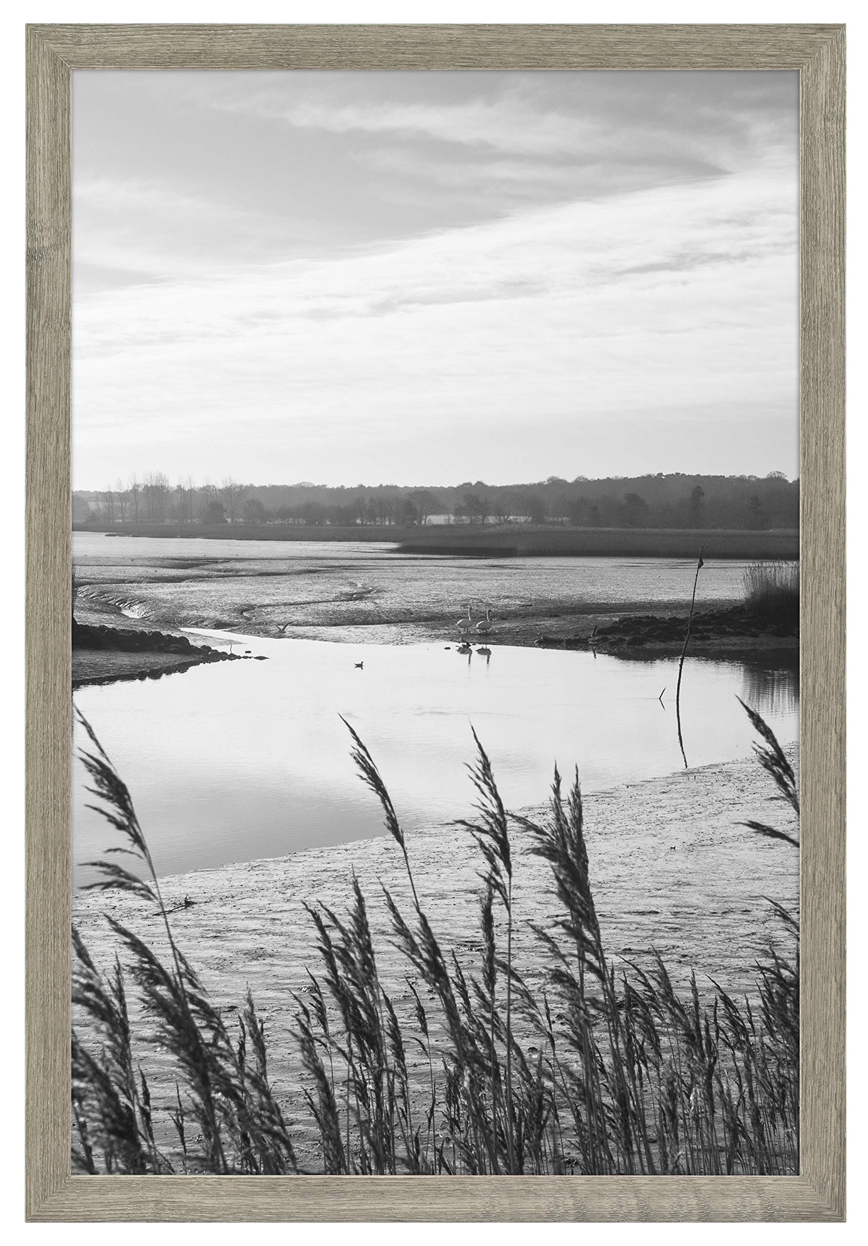 MCS 68867 Museum Poster Frame Barnwood 24x36 Inch, 1 Frame by MCS (Image #2)