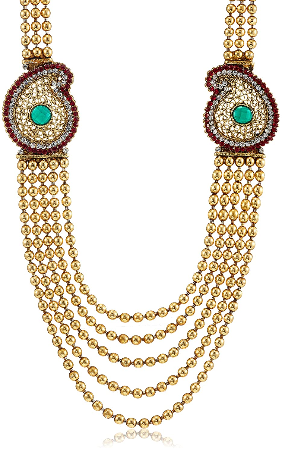 Buy Ava Traditional Jewellery Set for Women Gold SVS029 Online