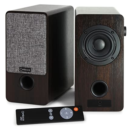 Micca ON3 3 Inch Powered Bookshelf Speakers With Remote Control 48 Watts 24W