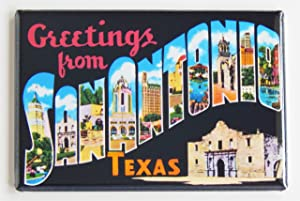 Greetings From San Antonio Texas Fridge Magnet (2 x 3 inches)