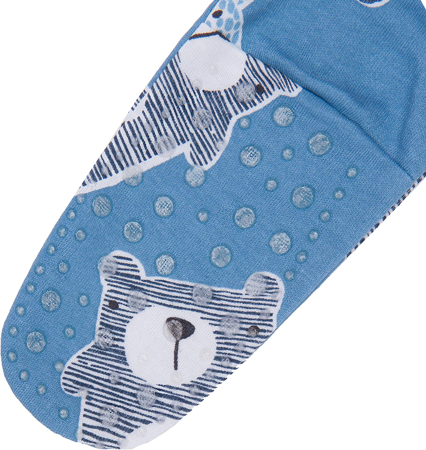 Pack of 3 SIBINULO Baby Boys Baby Girls Sleepsuit with ABS Mix Sizes 9-24 Months