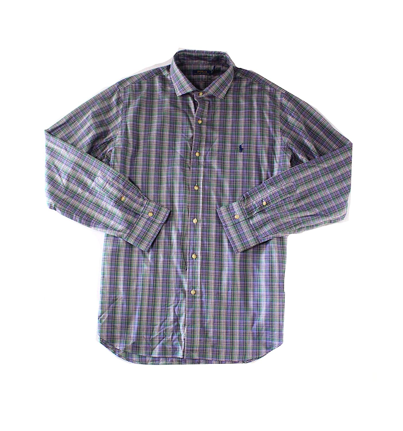 Ralph Lauren Mens Checked Button Up Shirt