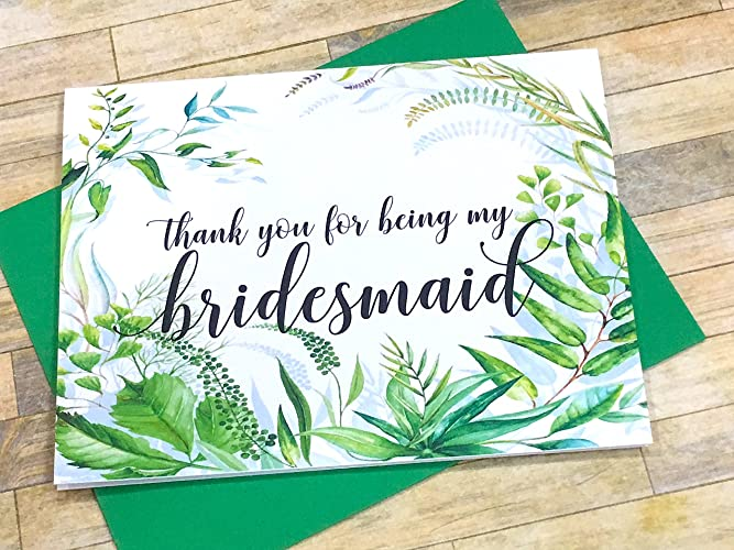 thank you to bride from bridesmaid