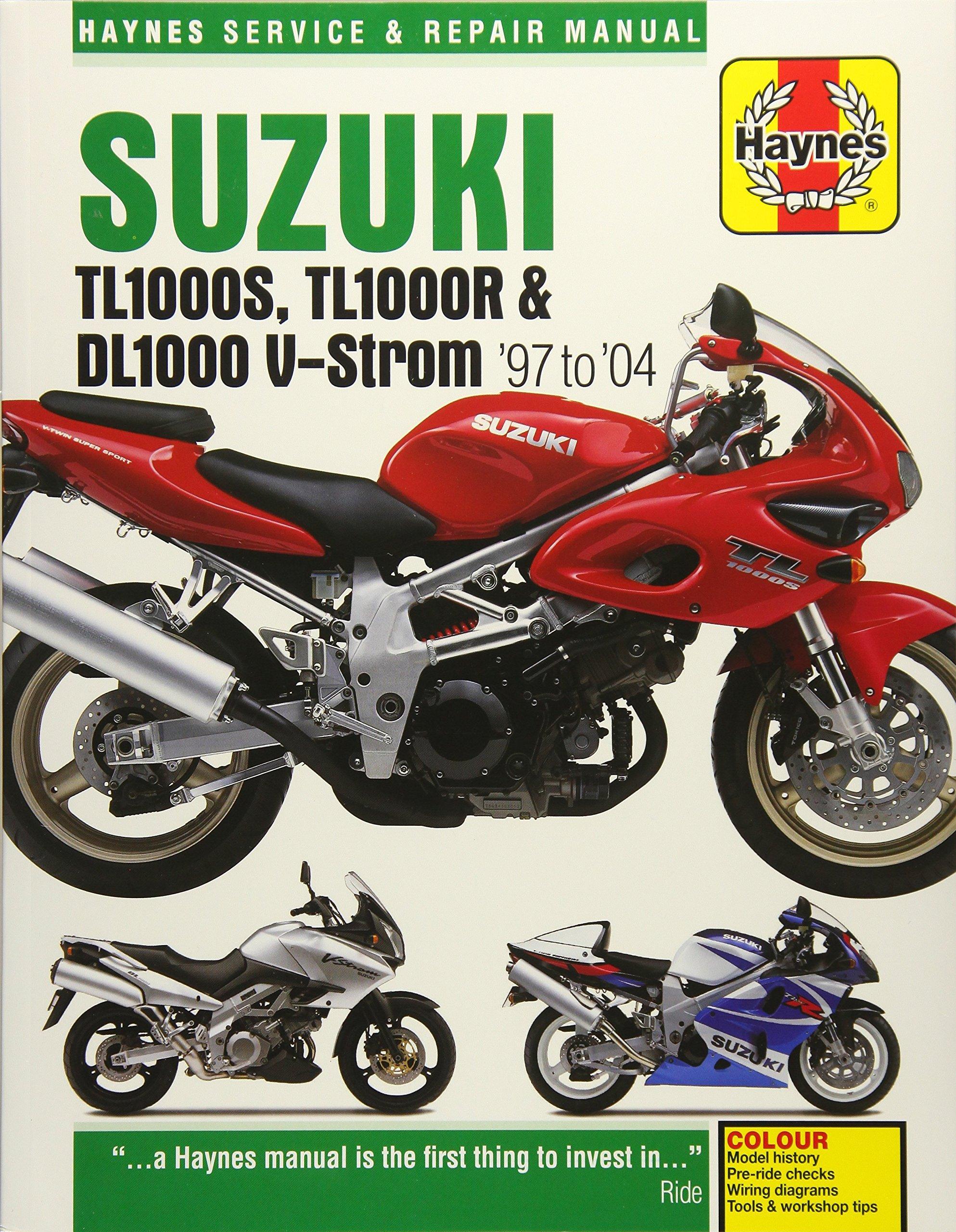 Suzuki TL1000S, TL1000R & DL1000 V-Strom '97 to '04 (Haynes Service &  Repair Manual): Matthew Coombs: 9781785213120: Amazon.com: Books