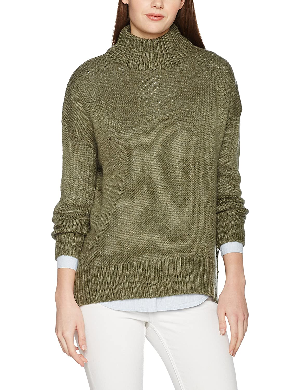 Felpa Look Neck New Amazon Abbigliamento Donna it Stand ntw1Frxd1