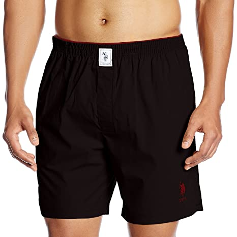 US Polo Association Men's Cotton Boxer Men's Boxer Shorts at amazon