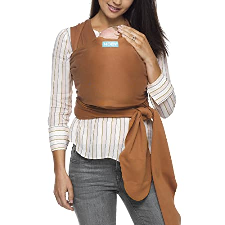 Moby Evolution Baby Wrap Carrier Caramel – Toddler, Infant, and Newborn Wrap Carrier – Wrap Baby Carrier Ideal for Parents On The Go – Ergonomic Baby Wrap for Mom Or Dad – A Registry Must Have