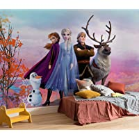 Komar 8-4103 Disney Photo Wallpaper Iconic Size 368 x 254 cm (Width x Height) Anna Elsa Olaf Frozen 2 Frozen Wallpaper…