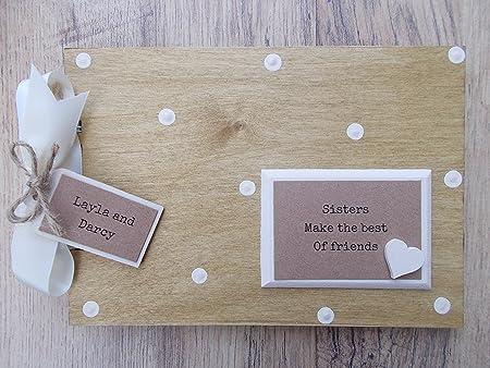 Personalised Sisters Wooden Scrapbookphoto Book Memories Amazon