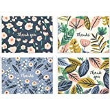 Hallmark Thank You Cards Assortment, Painted Florals (48 Cards with Envelopes for Baby Showers, Bridal Showers, Weddings, All