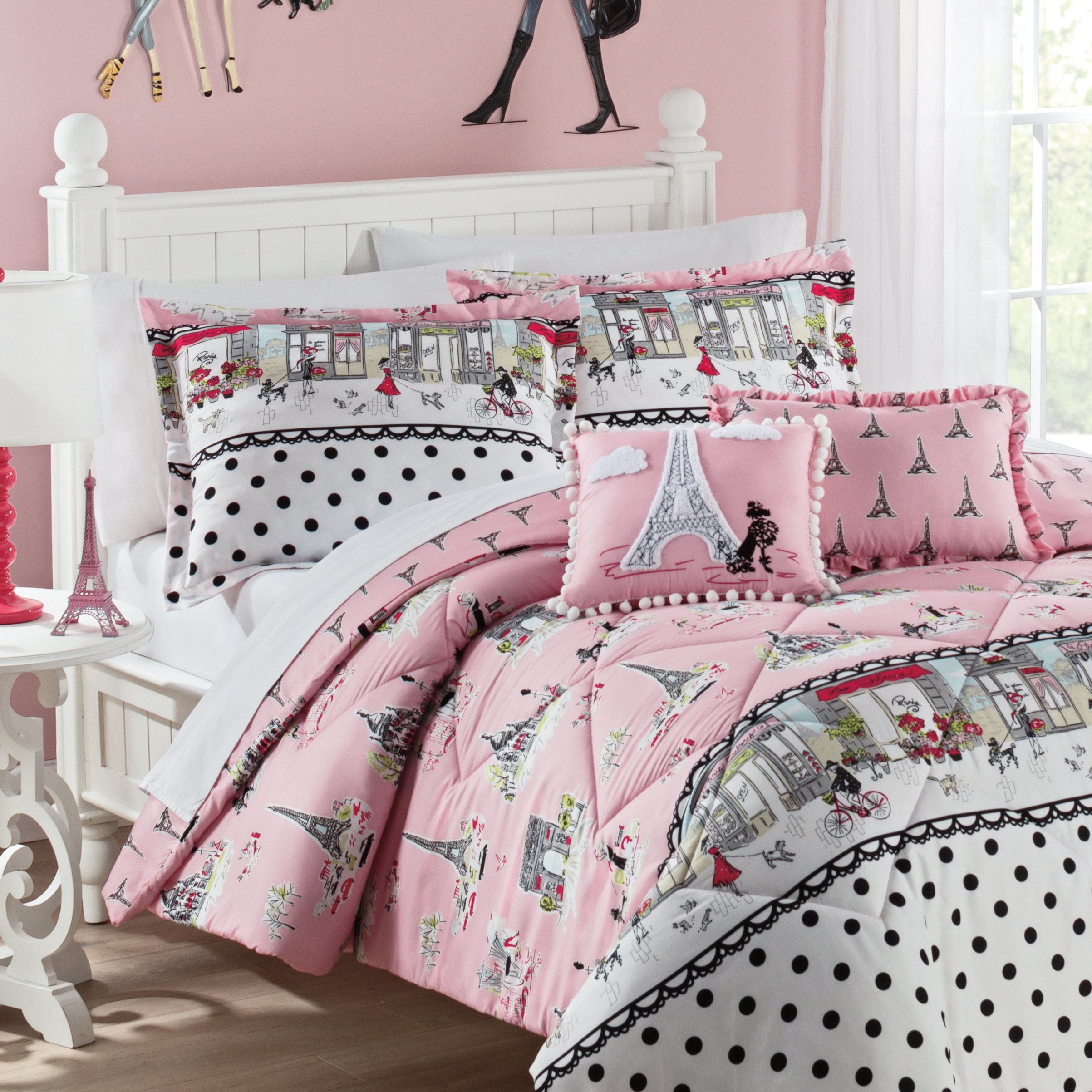 WAVERLY Kids Ooh La Reversible Bedding Collection, Full, Multicolor by WAVERLY (Image #3)