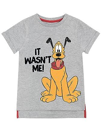 7cadc5dc230087 Disney Maglietta a maniche corta per Ragazzi Pluto: Amazon.it ...