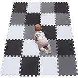 YIMINYUER Alfombra Puzzle de Colores de Goma EVA Suave, Resistente, Aislante, Lavable, Alfombra de Juegos para niños…