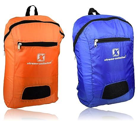 Xtreme-Unlimited Mochilas Plegables Ultra ligeraes (Pack de 2) | Mochila viaje duradera