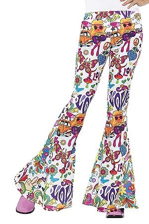 2d3fc7586 Smiffy's Smiffys-45174L Pantalones Acampanados Buena Onda años 60, para  Mujer,, L - EU Tamaño 44-46 45174L