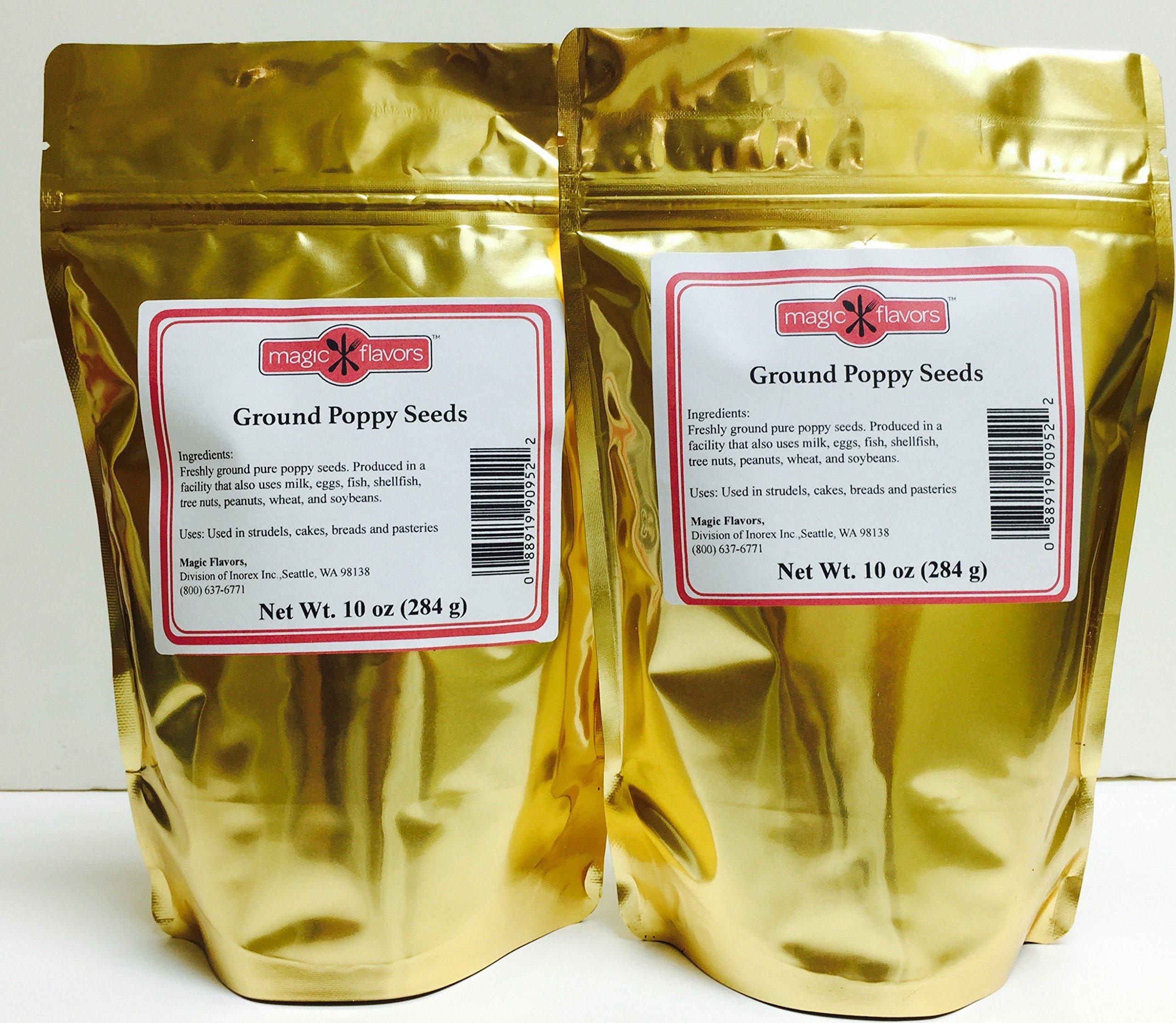 Magic Flavors Ground Poppy Seeds 20 oz (10 oz per pouch)
