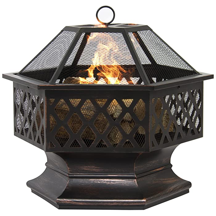 Best Choice Products BCP Outdoor Fireplace
