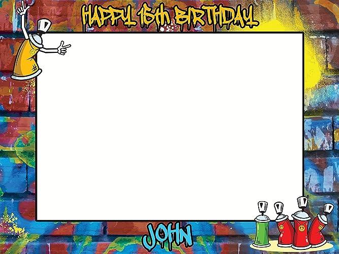 Amazoncom Large Custom Graffiti Birthday Photo Booth Frame Prop